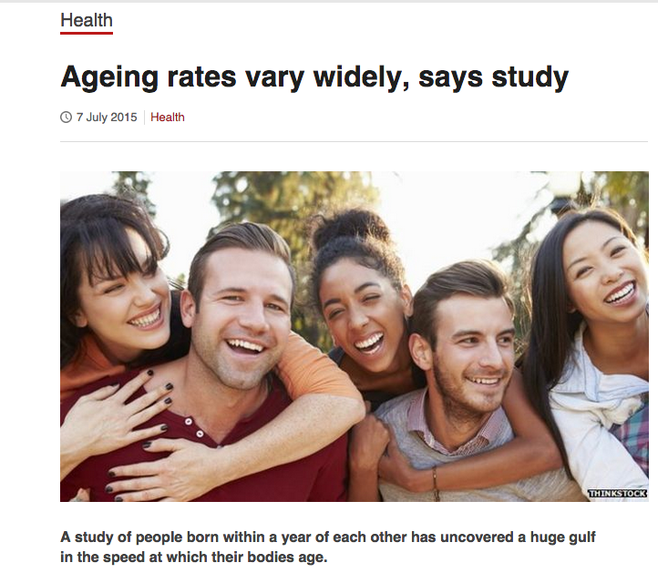Aging rates vary