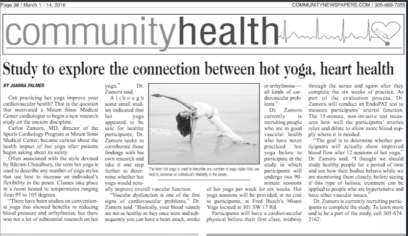 Hot Yoga Study