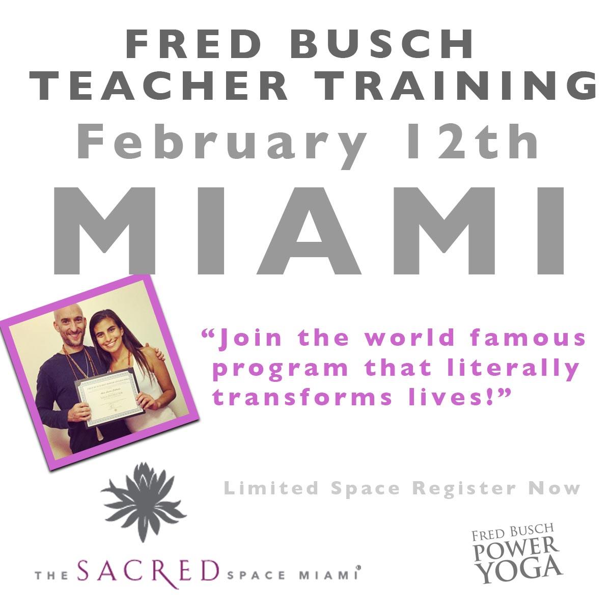 Miami Yoga Teacher Training 2018 with Fred Busch