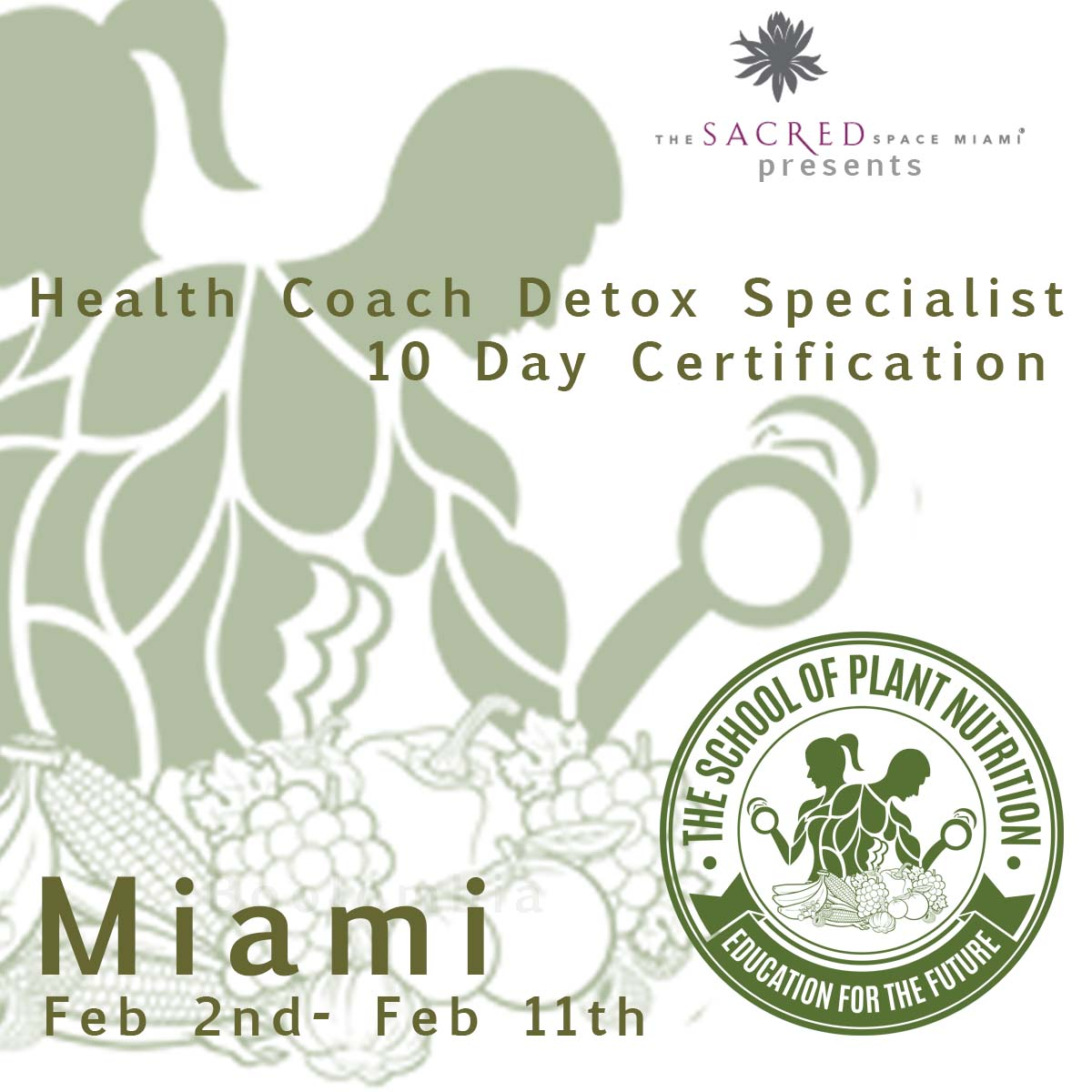 School of plant nutrition health coach certification school of plant miami certification xflitez Images